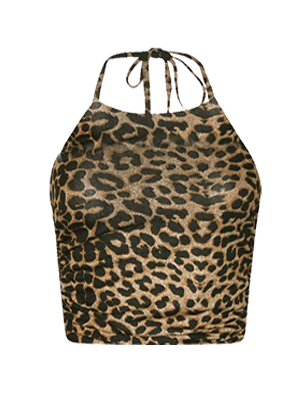 Rimi Hanger Womens Plain Tie up Halter Neck Crop Top Ladies Sleeveless Fancy Party Wear Top S,M,L