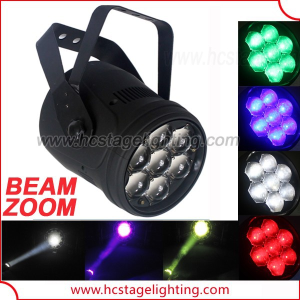 new stage lilght 2015 7x15w rgbw beam 4in1 zoom par led