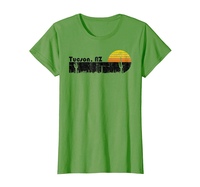 4ea0f3a6355 Get Quotations · Retro Tucson Arizona Desert Sunset Vintage T-Shirt