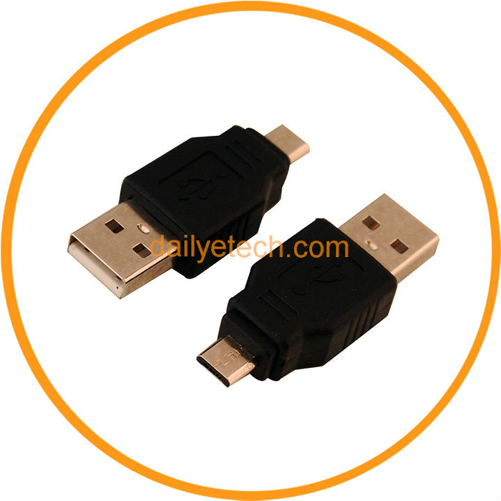 Short USB 2.0 Type A Male To Micro B Male Adapter Connector from Dailyetech