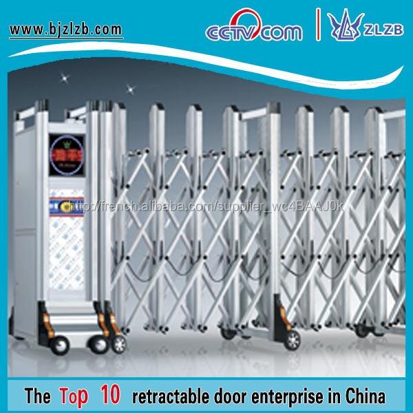 Porte cl ture m tallique pliante porte de la villa r sidentielle portes de fer et de cl ture for Porte villa en fer