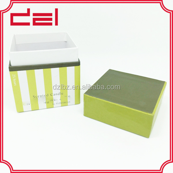 Custom made beautiful paper candle gift boxes for yankee candle