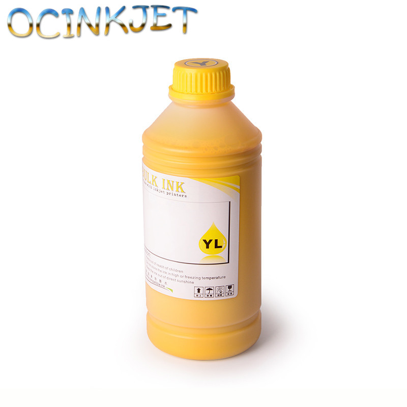 Ocinkjet 1000ML 5 Colors Universal Art Paper Pigment Ink For EPSON Stylus Photo T30 T33 C110 C120 1100 1110