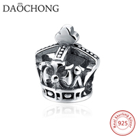 Fashion Design European Style Engraved Silver Plated Top Hat Charm