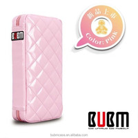 Fashion Pink 64 Capacity PU Fabric DVD Case CD Holder personalized cd case multi disc dvd cases