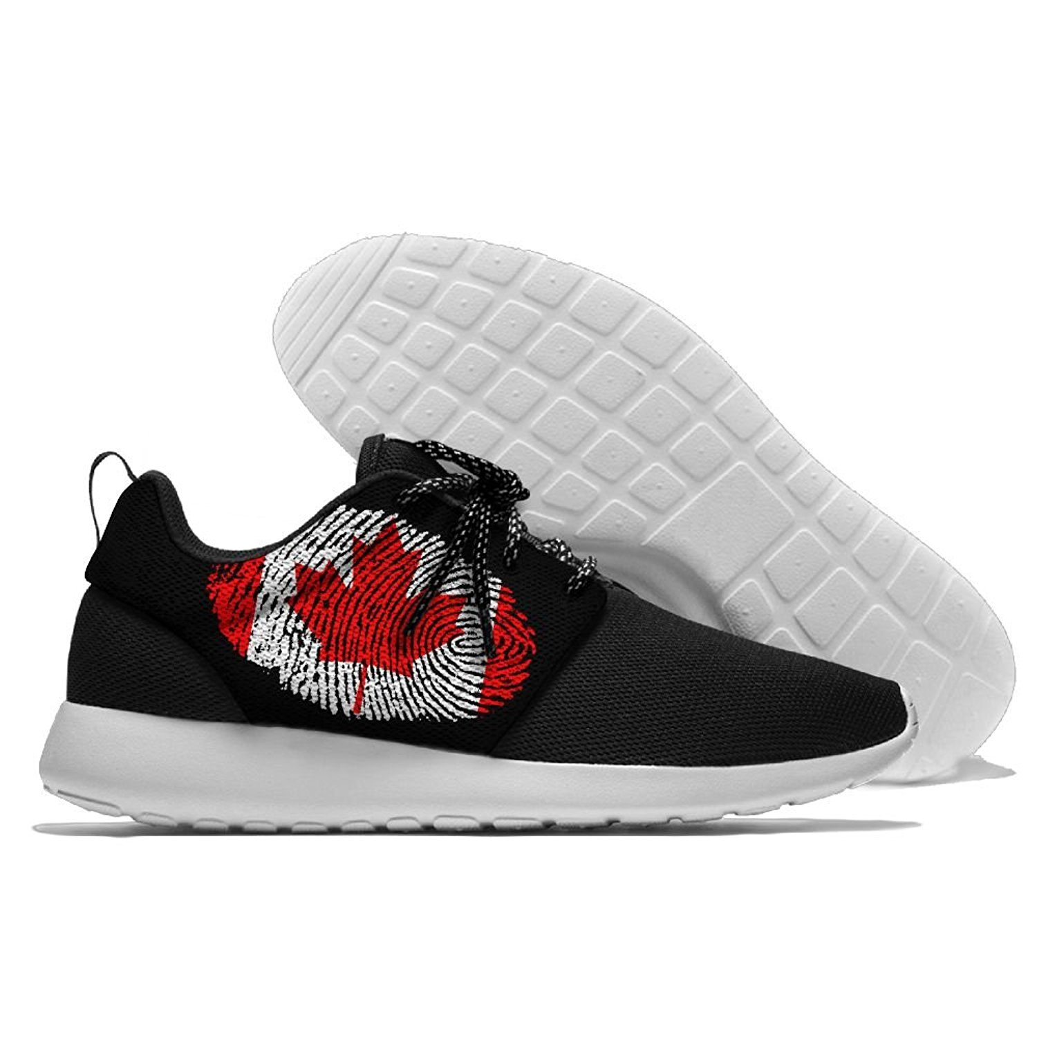MREIO Flag Childrens Breathable Fly Knit Shoes Outdoor Loafers Sneakers Running Shoes For Girls