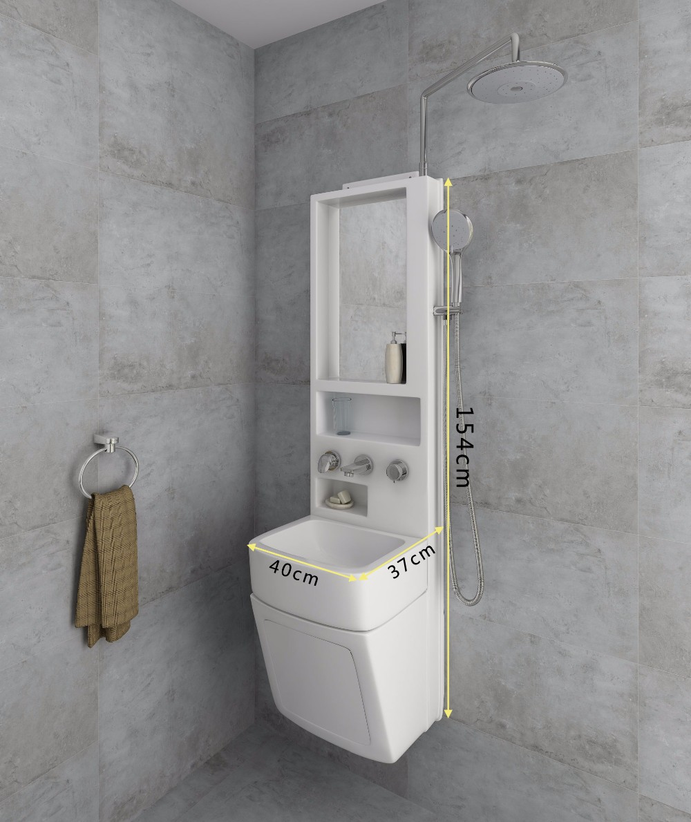 Shower Sink Combo Synthesize Bathroom Sinkcabinetbasinshower Mixer Bath Fitting