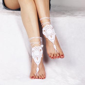 2017 Été Mode Sandales Femmes Crochet Italien Dames mode Tricoté Barefoot Accessoires Chaussures 2017 Buy Italienne DHIW29YE