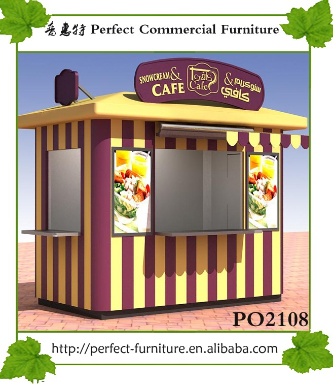 Outdoor Orange Juice Bar Design Booth Food Burger Stall