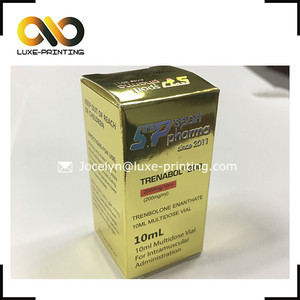 Hologram lab name steroid labels and box vial steroid sticker box