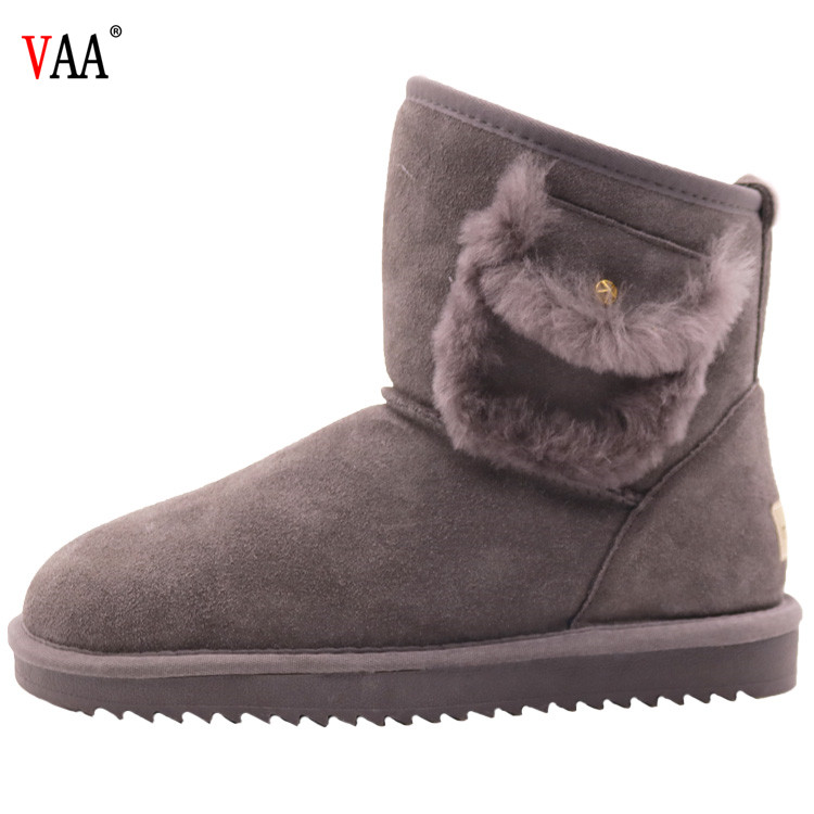lowest price  genuine leather sheepskin nntiskid winter shoes for men winter snow boots for men