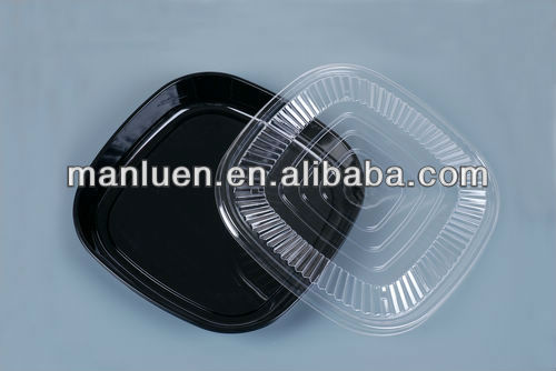 Disposable Plastic Round Food Divided Sushi Container