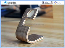 Wholesale exacty fit sideling Real Wood Charging Dock / Stand / Station for apple watch and mobile phone
