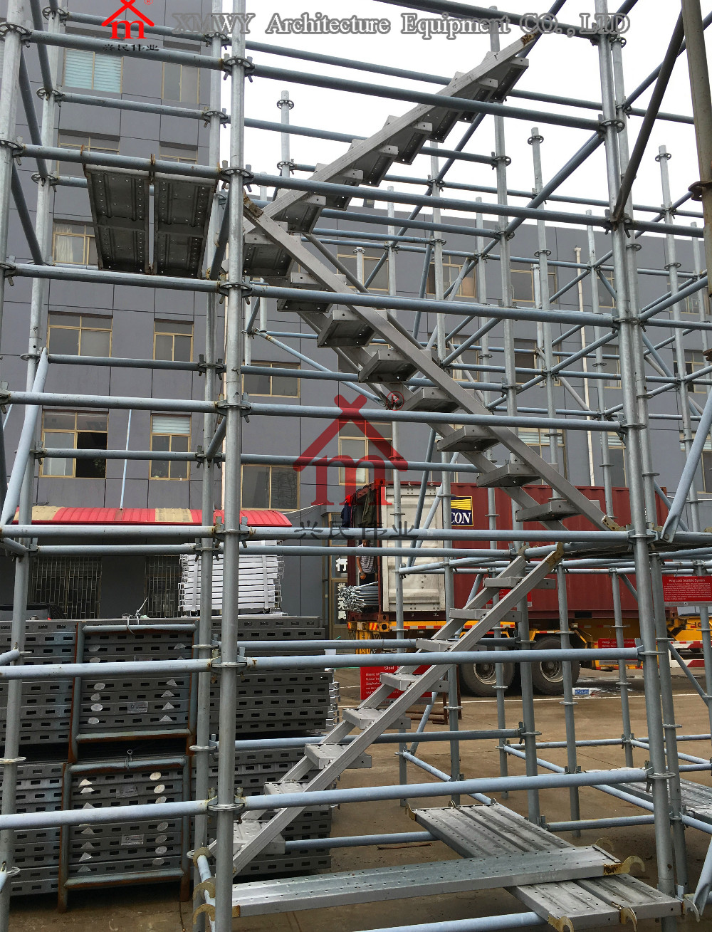 Steel Scaffolding Ladder : Prevent rusting galvanized construction steel scaffolding