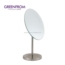 Single-side oval high-end makeup cheap frameless bedroom mirror