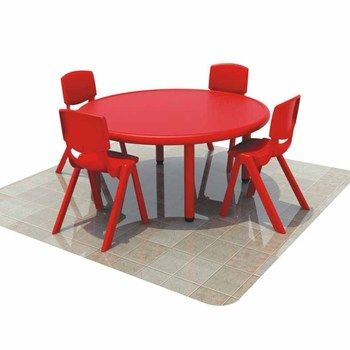 China Professional Cheap Plastic Round Table And Chairs For Kids Preschool  Study Table For Sale