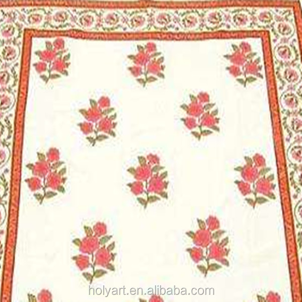 Hot sale high quality custom made jaipur hand block print table cloth