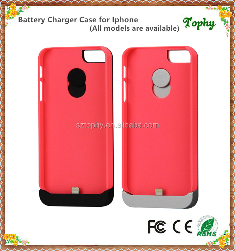 Fast Charging Ultra Thin Polymer Power Bank Portable Backup Battery Case For iPhone5/5s