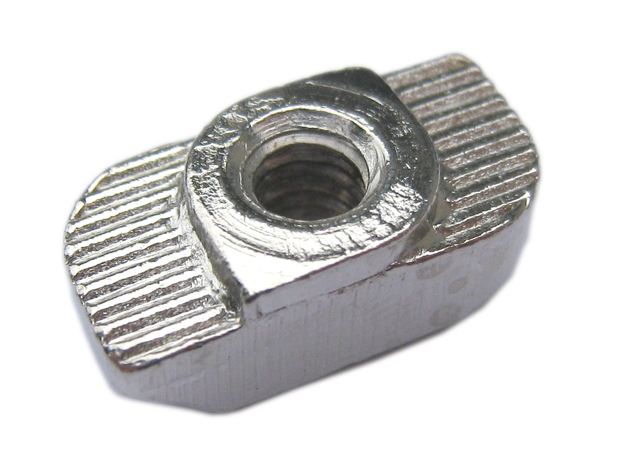 Drop In T-Nut M4 Thread For T-slot aluminum extrusion 15.5x7.8x5.5mm Pack of 20