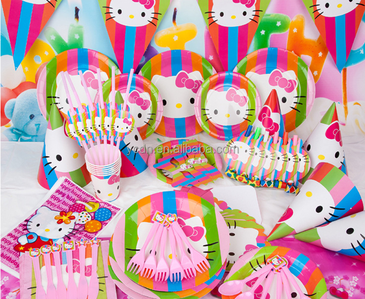 Hello kitty birthday paper product party supply