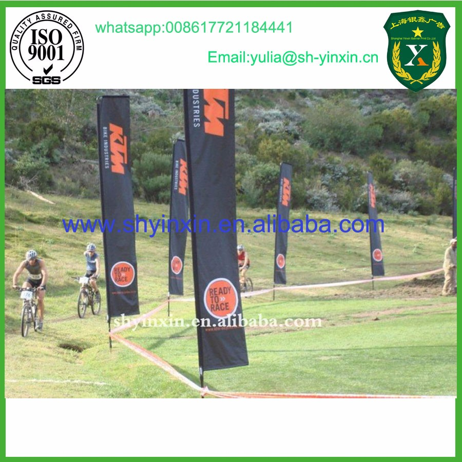 customized design flex flag pole for advertising