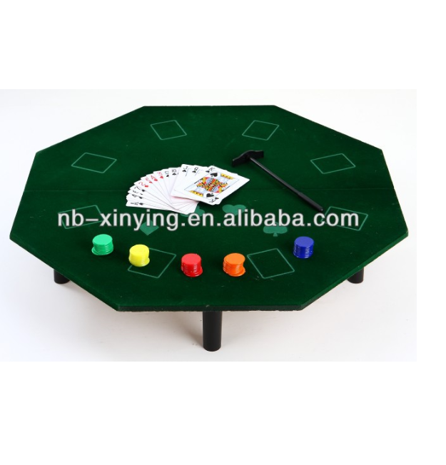 Mini popular Poker game with legs including 50pcs chips