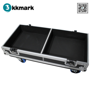 Kkmark Fits 2x RCF ART 422-A MKII Two-Way Speaker Flight Case with 4 inch Wheels