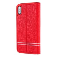 Card Holder Kickstand Protective Flip Cover for iPhone X , for iPhone X PU Leather Wallet Phone Case