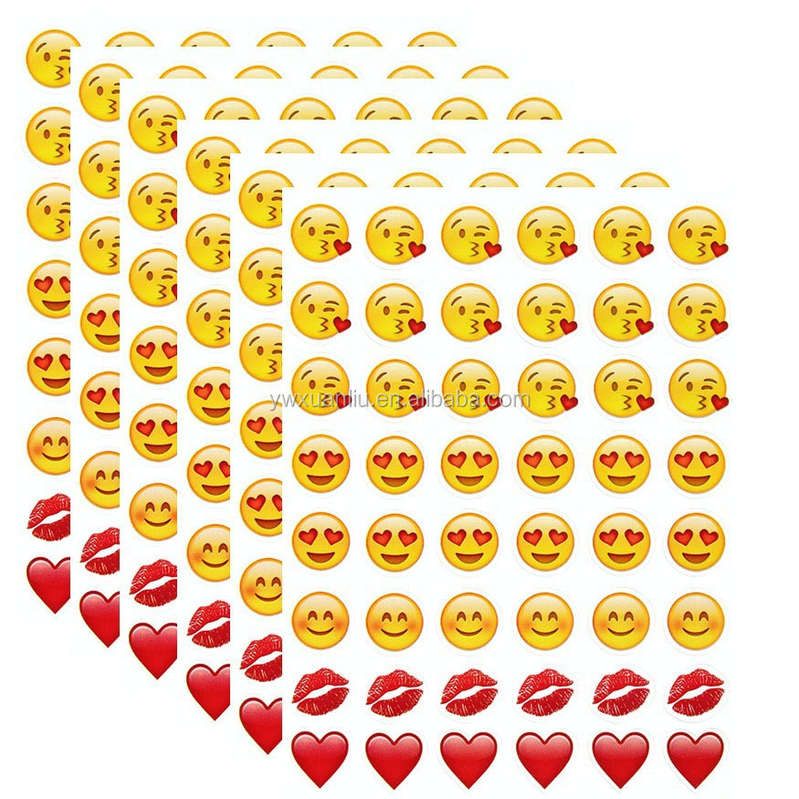 ... Imprimer des autocollants, Iphone expression emoji sourire visage