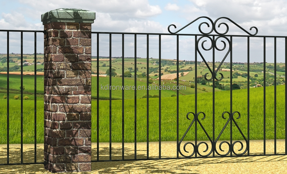 Decorative Simple Wrought Iron Gate Grill Fence Design