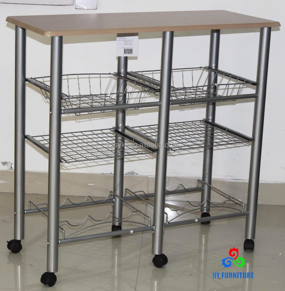Mobile wooden and metal kitchen storage racks kitchen trolley for sale,  View kitchen storage, HY Product Details from Zhangzhou Haiyang Furniture  ...