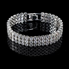 Mode best-seller moderne blanc or zircon chaîne de tennis bracelet