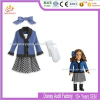 kinds of Beautiful American girl doll clothes with Shoes and Hat