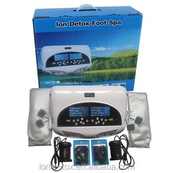 2014 New Dual Ion Detox Ionic Aqua Foot Bath Chi Spa Machine