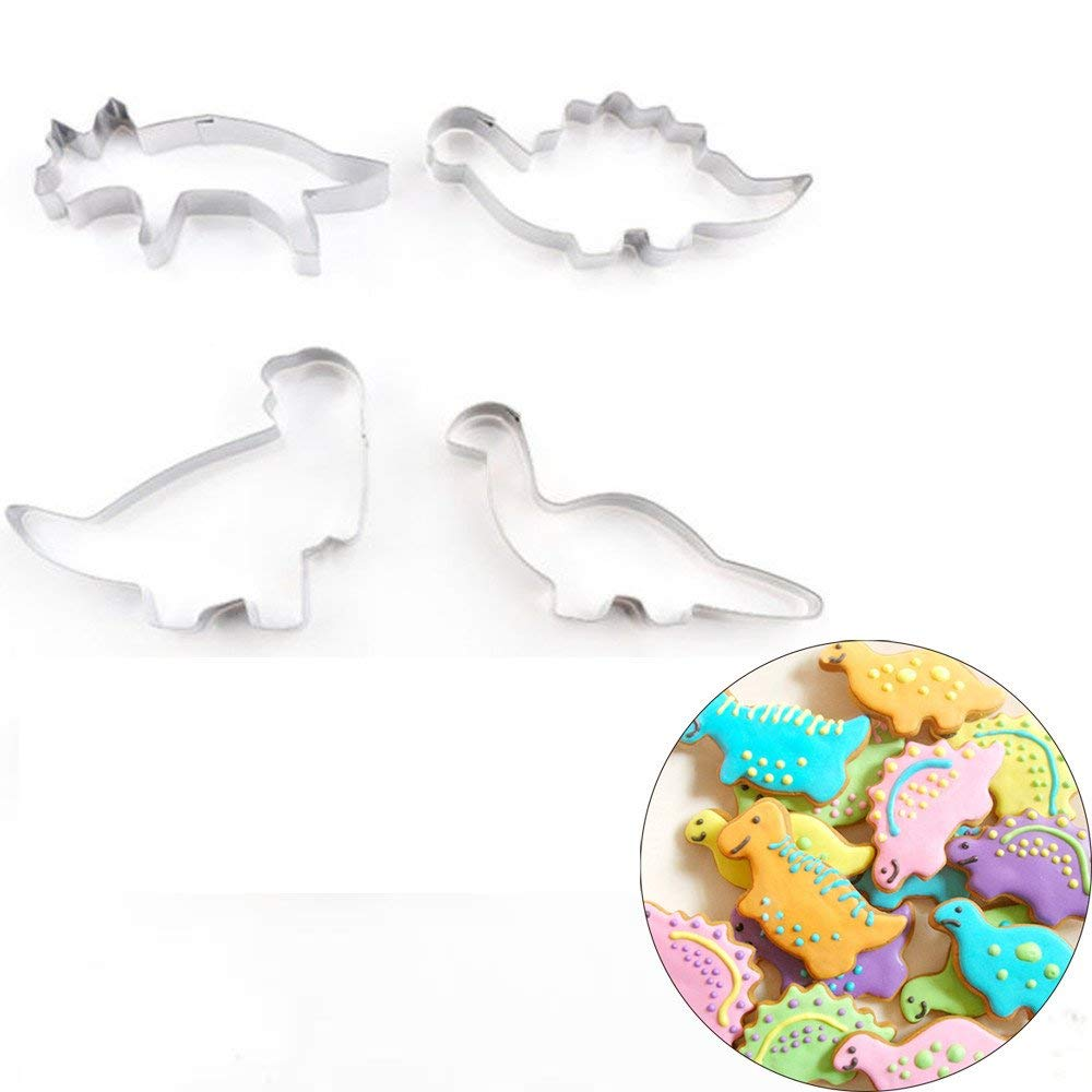 Joyoldelf 8 Pcs Biscuit Stainless Steel... Dinosaur Cookie Cutter Set