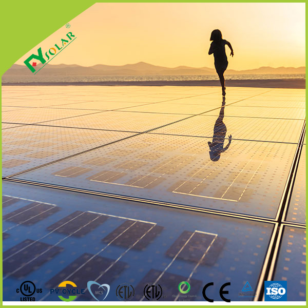 colorful glass BIPV solar panel