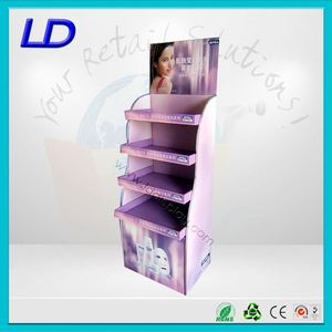 restaurant cardboard pop tiered decorative floor display stand