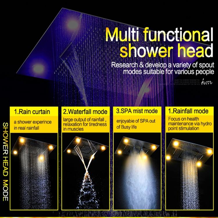 German Shower Head Top Design Recessed Faucet Multi Function Color ...