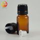 tamper proof 10 ml glass vial dropper bottle 10ml amber glass essential oil bottle with tip