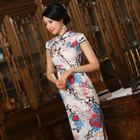 Z55144B chinese traditional cheongsam long qipao dress