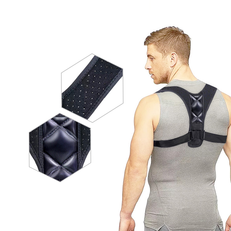 OEM Service Factory Wholesale Adjustable Compression Neoprene Support Back Posture Corrector Brace