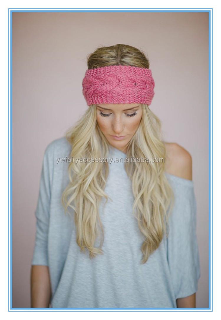 Fashion Volwassenen Winter Oor Warmer Elastische Haarband Haak