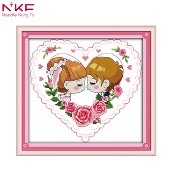 Nkf The Love Kiss Modern Cross Stitch Patterns For Wedding Buy Beauteous Cross Stitch Wedding Patterns