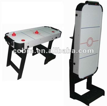 Single Foldable Mdf Ice Air Hockey Table/ Hockey Game Table Plastic  Corner,puck