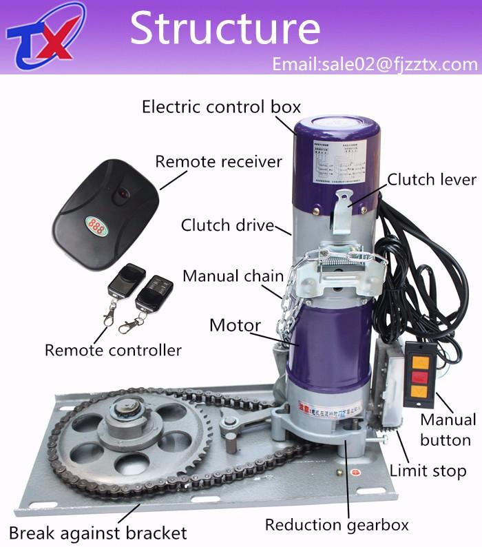 Ac Electric Roller Shutter Motor For 200kg Garage Doors
