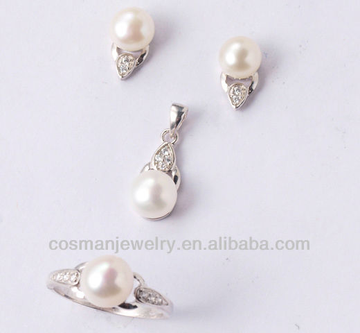 2015 african fashion jewelry sets with pearls