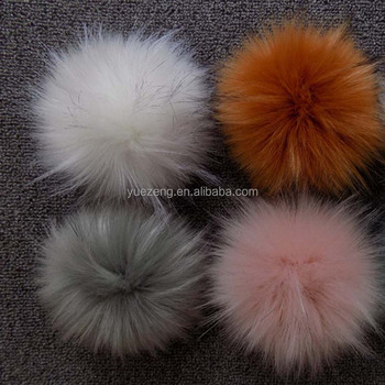 Cheaper Faux Fur Raccoon Fur Pom Poms With Snap For Hat - Buy ... fb0b90a110e