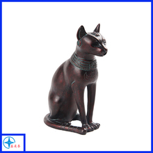 Resin antique sitting lucky cat figurine