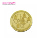 Gold Plating custom Anniversary celebration memorial coin 3D Metal die casting collection Commemorative coin