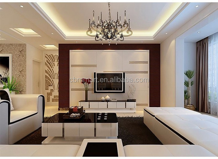 2015 mais recente sala de estar sof de design moderno for Cielos rasos modernos